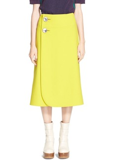 Marni A-Line Jewel Button Midi Skirt