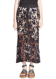 Marni Embroidered Tulle Skirt