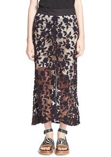 MarniEmbroidered Tulle Skirt