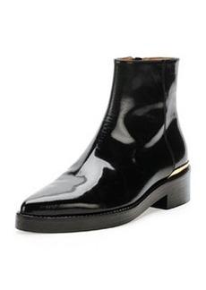 Point-Toe Calfskin Chelsea Boot, Coal   Point-Toe Calfskin Chelsea Boot, Coal