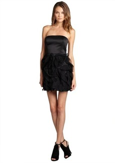 Max & Cleo black 'Emma' strapless and tiered skirt cocktail dress