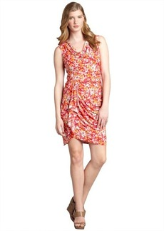 Max & Cleo cosmic pink abstract floral print stretch jersey 'Karen' dress