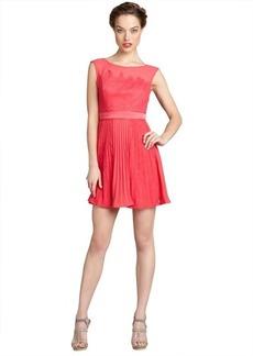 Max & Cleo fuchsia lace and chiffon pleated sleeveless 'Natasha' dress