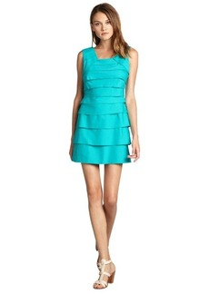Max & Cleo green topaz tiered stretch cotton 'Andrea' sleeveless dress