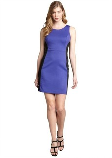 Max & Cleo purple and black jersey knit colorblock 'Veronica' dress