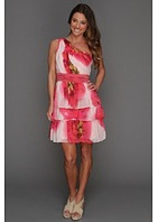Max and Cleo Blooming Rose One Shoulder Dress