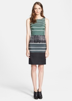 Max Mara 'Abbado' Print Cotton Blend Sheath Dress