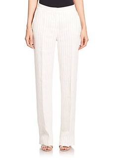 Max Mara Abete Striped Linen Pants