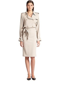 Max Mara Afosi Silk Trench Dress