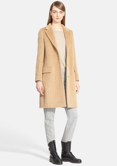 Max Mara 'Agami' Crocodile Pattern Alpaca & Wool Coat