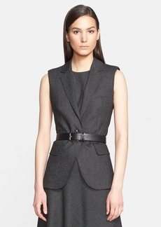 Max Mara 'Ambra' Stretch Wool One-Button Vest