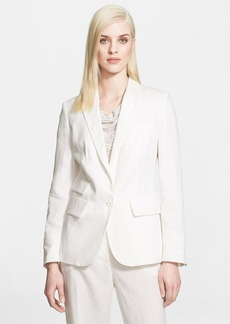 Max Mara 'Apogeo' One-Button Linen Jacket