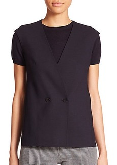 Max Mara Aquile Stretch Wool Vest