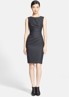 Max Mara 'Arley' Ruched Wool & Silk Dress