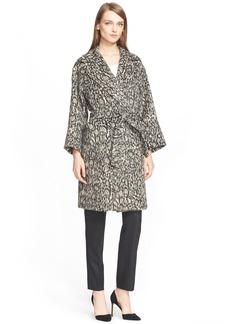 Max Mara 'Attuale' Leopard Print Wrap Coat