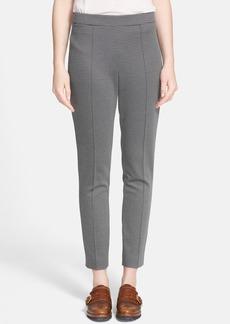 Max Mara 'Avana' Check Pattern Jersey Pants