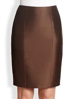 Max Mara Bastia Mikado Pencil Skirt