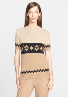 Max Mara 'Bric' Short Sleeve Knit Sweater