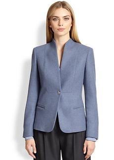 Max Mara Bridge Bib-Front Cashmere Jacket