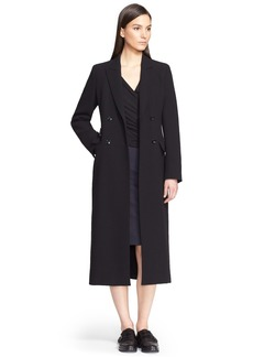 Max Mara 'Brunico' Double Breasted Wool Crepe Coat