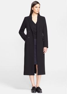 Max Mara 'Brunico' Double Breasted Wool Crepe Coat