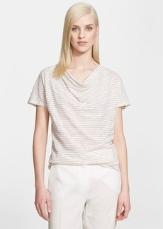 Max Mara 'Candido' Stripe Short Sleeve Top