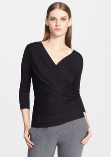 Max Mara 'Caprice' Cross Drape Top