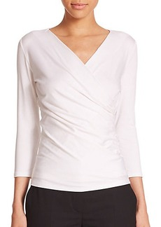 Max Mara Caprice Faux-Wrap Jersey Top