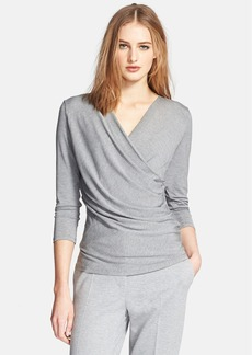 Max Mara 'Caprice' Faux Wrap Jersey Top