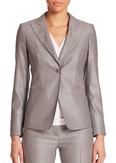 Max Mara Carlos Wool & Silk Single-Button Jacket