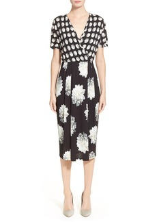 Max Mara 'Cremona' Floral Print Jersey Dress