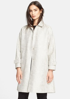 Max Mara Crocodile Jacquard Cotton Blend Raincoat