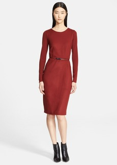 Max Mara 'Crusca' Wool Jersey Dress
