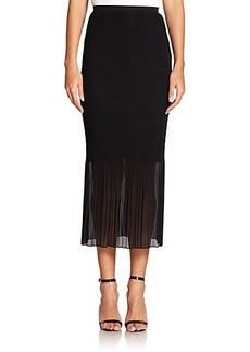 Max Mara Davina Shirred Knit Skirt