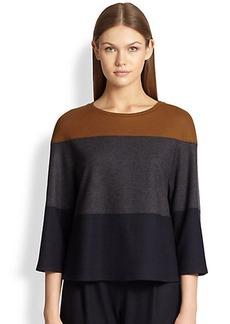 Max Mara Dollaro Striped Wool Jersey Top