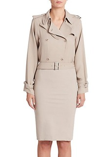 Max Mara Double-Breasted Trench Dress