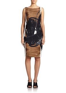 Max Mara Duse Brushstroke-Print Dress