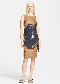 Max Mara 'Duse' Brushstroke Print Sleeveless Sheath Dress