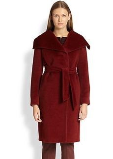 Max Mara Eden Alpaca & Wool Wrap Coat