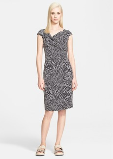 Max Mara 'Ercole' Cap Sleeve Silk Dress