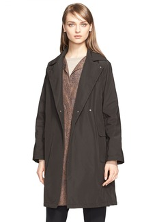 Max Mara Faille Raincoat & Abstract Leopard Print Vest (Nordstrom Exclusive)