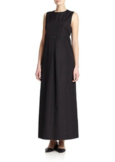 Max Mara Fosco Embellished Midi Dress