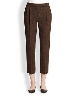 Max Mara Gambo Wool/Silk Tweed Cropped Pants