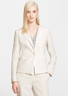 Max Mara 'Ghinea' One-Button Linen Jacket