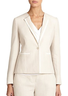 Max Mara Ghinea Piped Linen Jacket