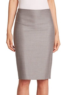 Max Mara Hidesia Wool & Silk Pencil Skirt