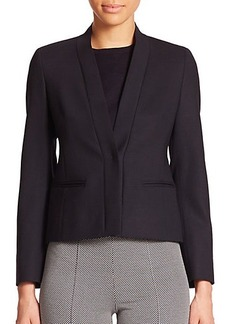 Max Mara Holly Stretch Wool Collarless Jacket