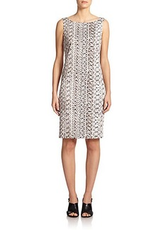 Max Mara Jessica Snakeskin-Print Stretch-Cotton Dress