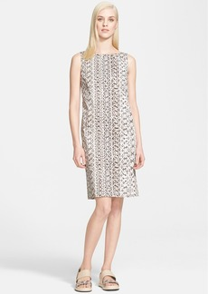 Max Mara 'Jessica' Snakeskin Print Stretch Cotton Shift Dress