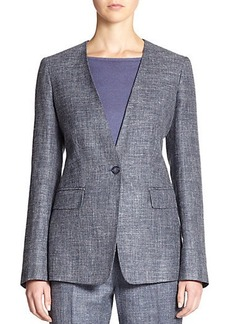 Max Mara Lampone One-Button Jacket